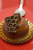 Dessert de gâteau de chocolat Photographie stock libre de droits