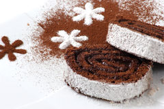 Dessert de gâteau de Choko Photo libre de droits