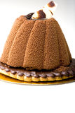 Dessert de gâteau de mousse de chocolat de pâtisserie Photos libres de droits