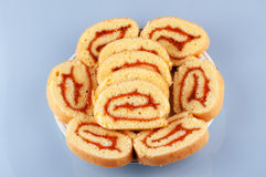 Dessert de gâteau de petit pain Photo libre de droits