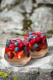 Dessert de gelée avec des baies photos stock