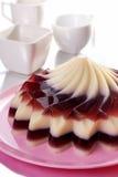 Dessert de gelée de canneberge Photographie stock