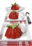 Dessert de gelée de fraise Images stock