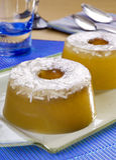 Dessert de gelée de noix de coco Photos libres de droits