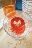 Dessert de gelée sur la table Photographie stock libre de droits