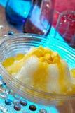 Dessert de glace de mangue Images libres de droits