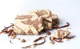Dessert de halva avec la pâte et le cacao de sésame Image libre de droits