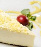 Dessert - de Kaastaart van de Citroen stock foto