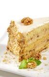 Dessert - de Kaastaart van Noten royalty-vrije stock fotografie
