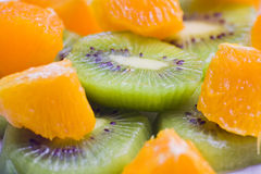Dessert de kiwi et d'orange Image stock