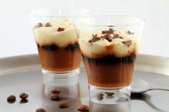 Dessert de lait-cofee Image libre de droits