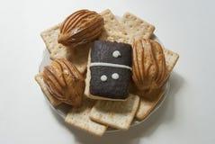 Dessert de Lugansk ` de domino de ` de gâteau eclairs Photographie stock libre de droits