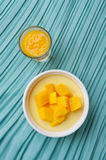 Dessert de mangue Photo libre de droits