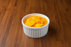 Dessert de mangue Photos stock