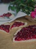 Dessert de merise Photographie stock