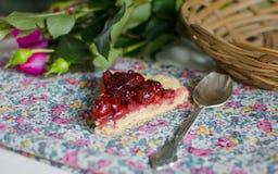 Dessert de merise Photographie stock libre de droits