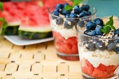 Dessert de myrtilles Images stock