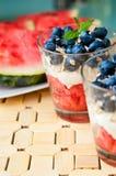 Dessert de myrtilles Photographie stock libre de droits