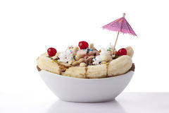 Dessert de parfait de banana split Photographie stock