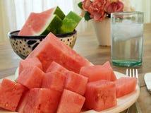 Dessert de pastèque Photographie stock libre de droits