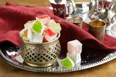 Dessert de plaisir turc (lokum de rahat) Image libre de droits