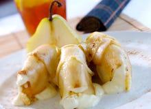 Dessert de poire Photo libre de droits