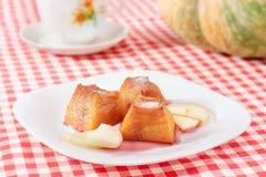 Dessert de potiron Photos libres de droits
