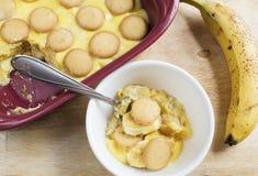 Dessert de pudding de banane Photographie stock libre de droits