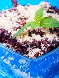 Dessert de riz de chocolat Image libre de droits