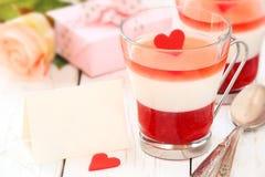 Dessert de Saint-Valentin Photographie stock