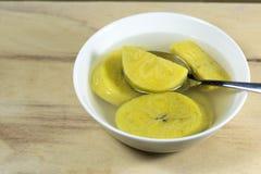 Dessert de soupe à banane Images stock
