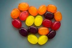 Dessert de sucrerie d'amoureux de couleur de nourriture Photo stock