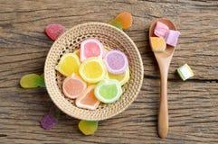 Dessert de sucrerie de gelée photographie stock