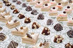 Dessert de table de buffet Photographie stock libre de droits