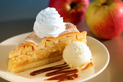 Dessert de tarte aux pommes Images libres de droits