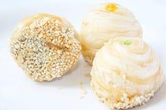 Dessert de trois Tradditional, nourriture thaïlandaise Photographie stock libre de droits