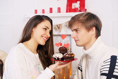 Dessert de vacances de chocolat Image stock