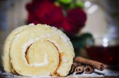 Dessert de vanille Image libre de droits