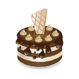 Dessert de vecteur Images stock
