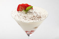 Dessert de yaourt Images libres de droits