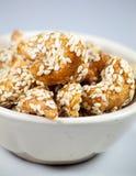 Dessert degli anacardi Fotografie Stock
