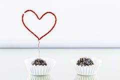 Dessert del biglietto di S. Valentino Fotografia Stock Libera da Diritti