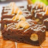 Dessert del brownie su un vassoio Fotografia Stock Libera da Diritti