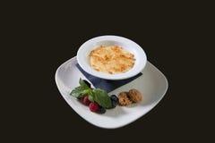 Dessert del budino di riso Fotografie Stock Libere da Diritti