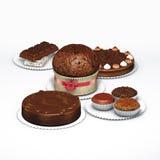 Dessert del cioccolato Fotografia Stock