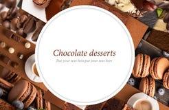 Dessert del cioccolato immagini stock libere da diritti