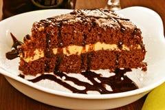 Dessert del cioccolato zuccherato Fotografia Stock