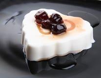 Dessert del cotta di Panna Fotografia Stock