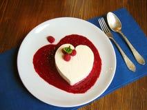 Dessert del cuore Fotografia Stock