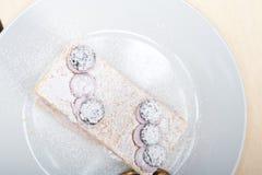 Dessert del dolce del mirtillo di millefoglie Immagine Stock Libera da Diritti